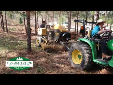 Holder Farms Sales & Service Pine Straw Baler Improves Efficiency