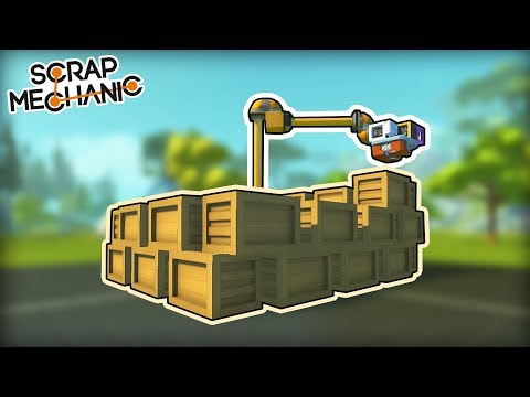 Automatic Robot Builds Its Own House! (Scrap Mechanic Gameplay)