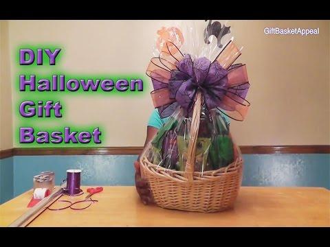 DIY Halloween Gift Basket Tutorial - GiftBasketAppeal
