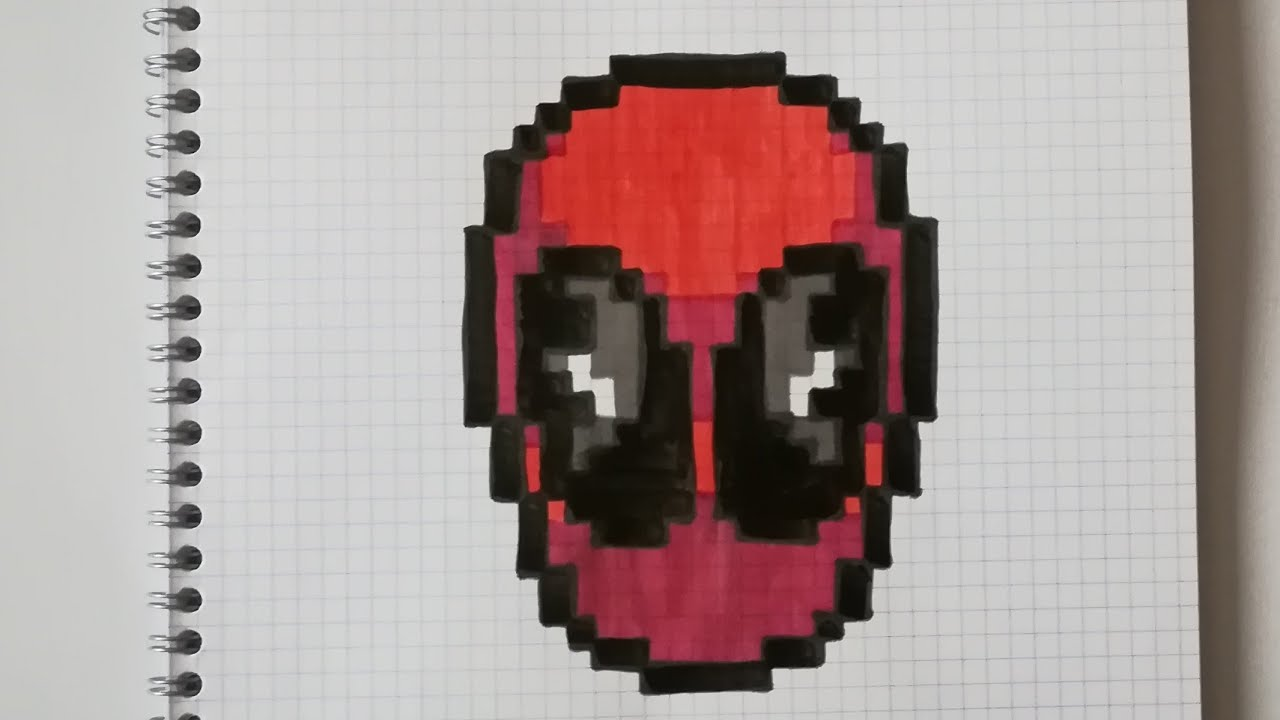 Pixel Art Deadpool Facile