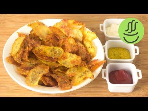 Evde Cips Yapımı - Fırında Patates Cipsi - Cips Tarifi - Cips Nasıl Yapılır?