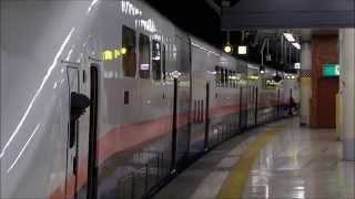 駆け込み乗車で駅員怒りの再開閉合図&乗降終了合図 E4系Maxとき・たにがわ325号 入線&発車扱い