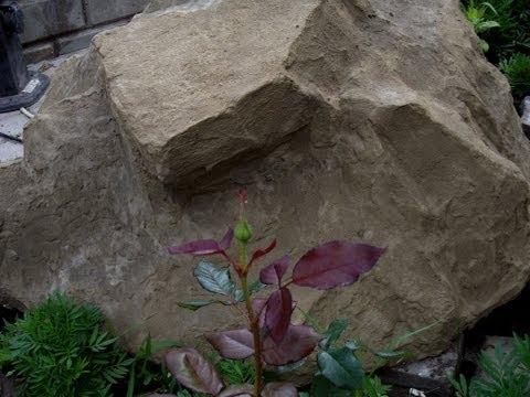 Искусственный декоративный камень для маскировки своими руками