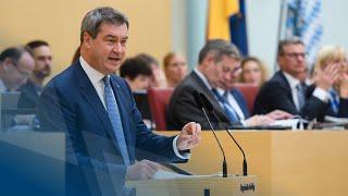 Damit Bayern stabil bleibt – Regierungserklärung von Ministerpräsident Dr. Söder - Bayern
