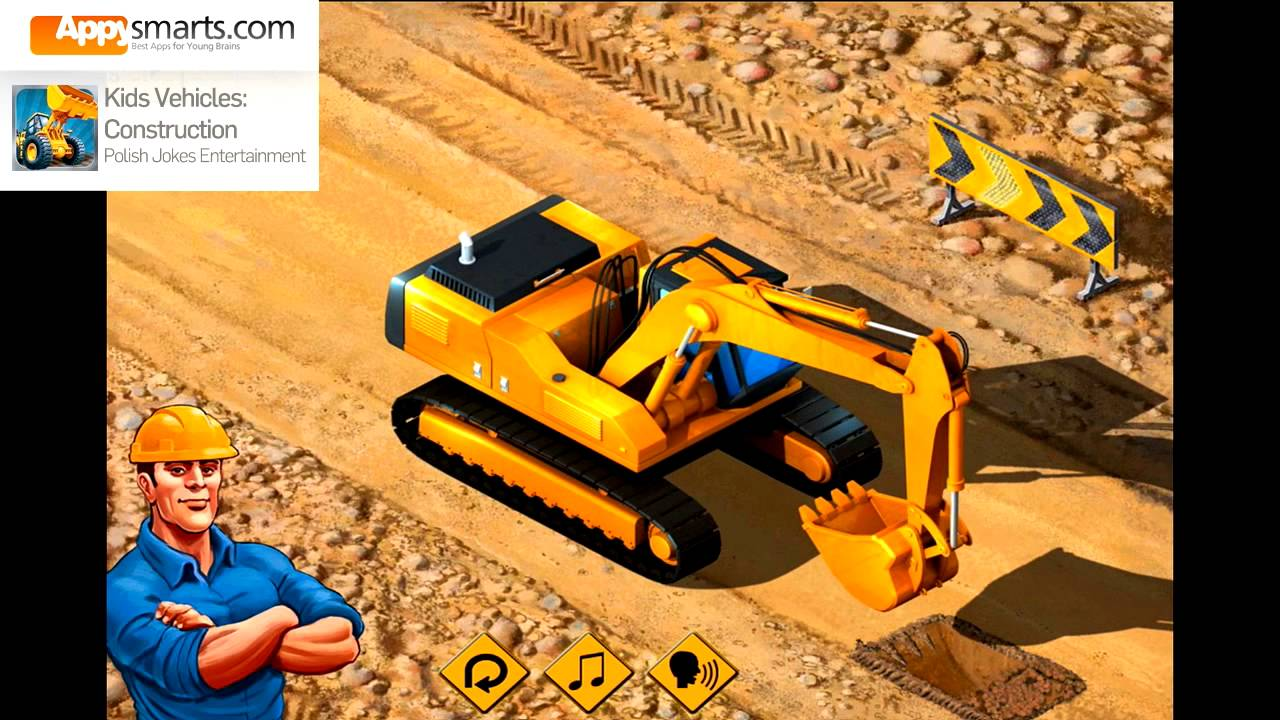 Kids Construction Vehicles And Trucks Bulldozer