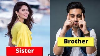 Real Life Pakistani Celebrities Brother & Sister Jodi's-2019-Aiman Khan-Mahira Khan-Sajal Ali