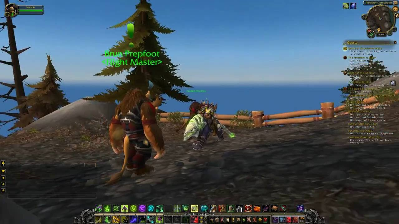 World Of Warcraft Reaching Prepfoot Compound In Highmountain Legion