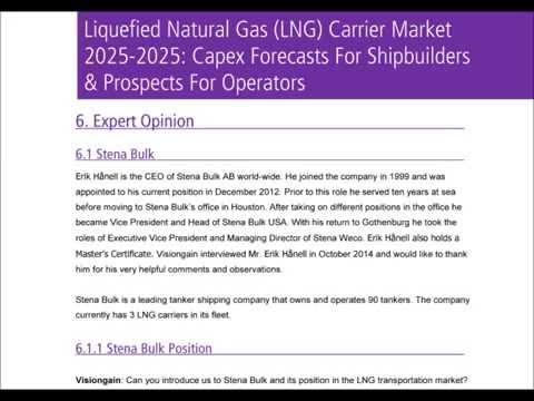Liquefied Natural Gas LNG Carrier Market 2015-2025 Report