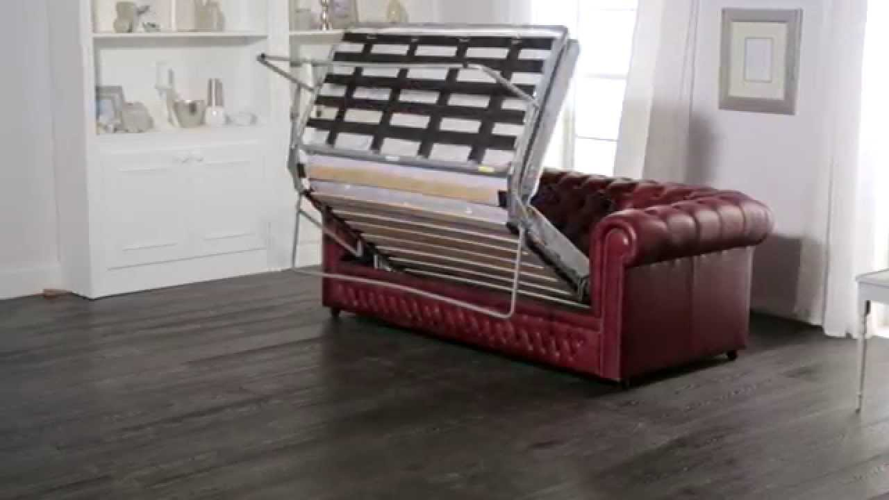 chesterfield sofa bed double cheap from sofas by saxon youtube
