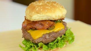 Jalapeno Popper Burger Recipe (english Subtitles)