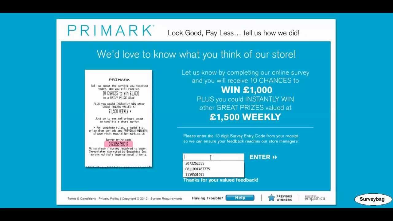 04b1b2e1a www.tellprimark.co.uk Primark survey video by Surveybag - YouTube