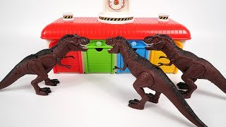 Dinosaurio & Tayo the little bus Aprender Colores - Gigante Insecto Juguete Monstruo