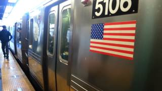 BMT Brighton Line: R68A Kings Highway-bound B Train at Newkirk Plaza