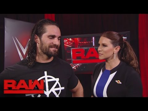 Seth Rollins gets brutally honest with Stephanie McMahon: Raw, Sept. 19, 2016 thumbnail