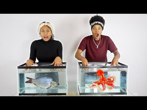 WHAT'S IN THE BOX CHALLENGE - UNDERWATER EDITION