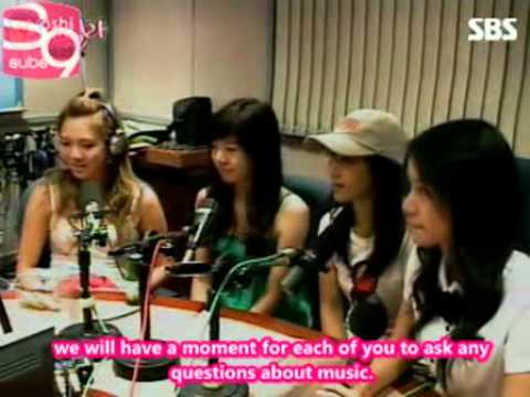 SNSD - Go Real Radio [070827] (eng sub)