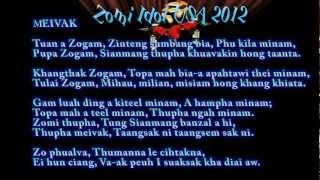 """Zomi Idol USA 2012 (""""MEI VAK"""" La; Phuak leh Sa: JK KAM)"""