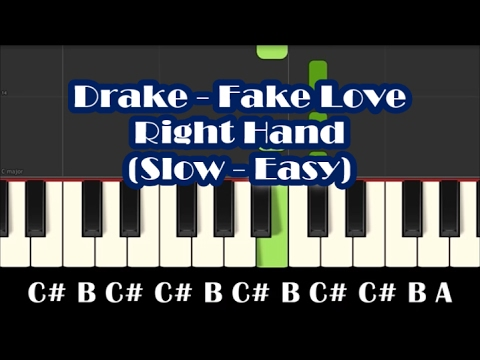 How To Play Fake Love By Drake - Right Hand Slow...