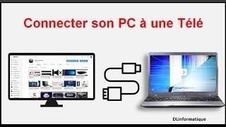 Brancher écran de pc portable sur une télévision ( écran noir ou casser )