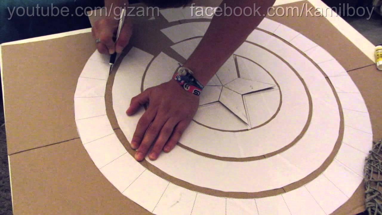 captain america schild aus karton part 1 youtube. Black Bedroom Furniture Sets. Home Design Ideas