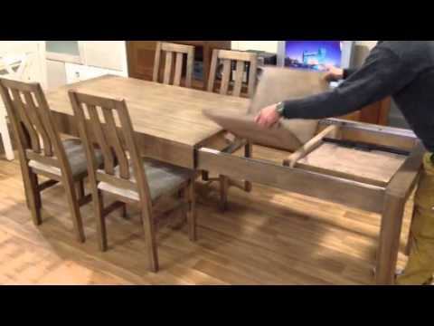 Comedores 138 4 mesa de sal n con 2 extensiones for Comedores 4 patas