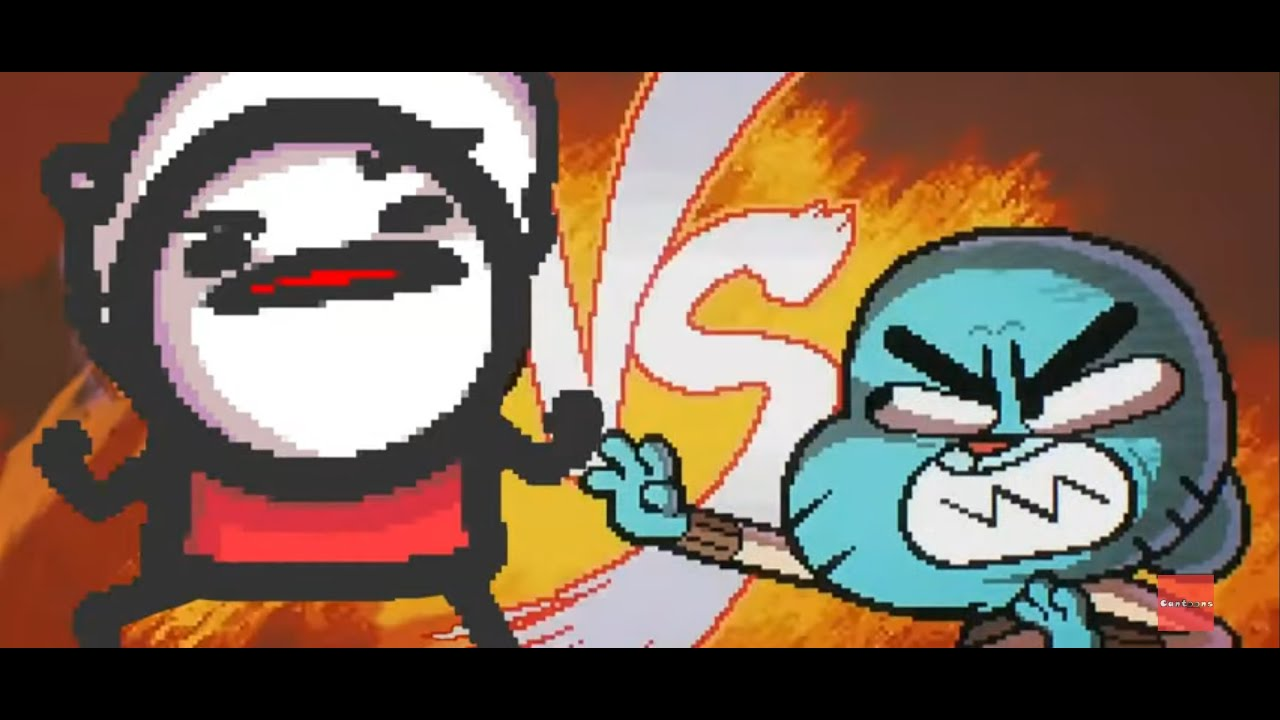Gumball gets beat up (rematch)