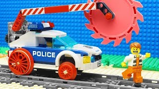 Lego Train Police Excavator Transport Fail