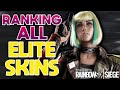 RANKING ALL ELITE SKINS IN RAINBOW SIX SIEGE FROM WORST TO BEST!