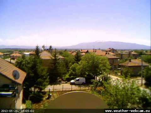 Time-lapse video from Sofia panorama webcam, located in Novi Iskar, Sofia, Bulgaria - May 2013