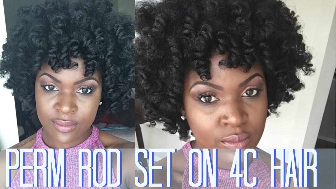 Perm Rod Set On Natural Hair Youtube