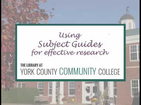 Download Using Subject Guides for Effective Research
