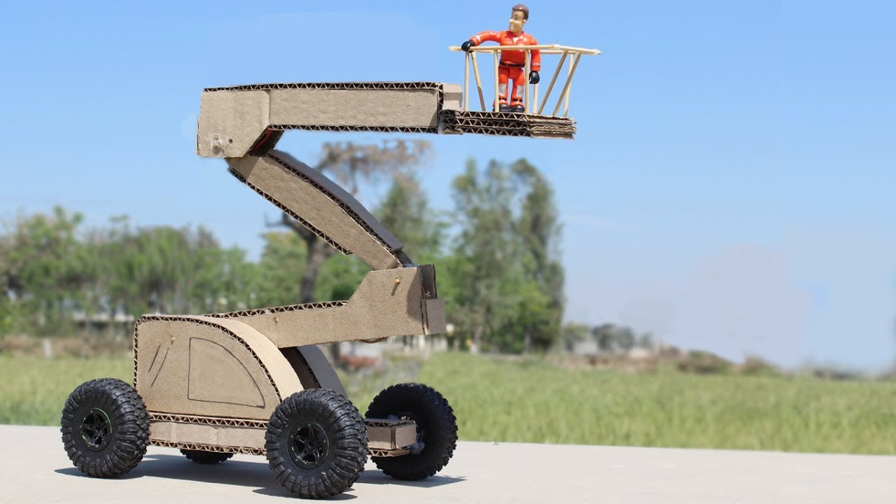 Download Super Crane! How to Make a Man Lift Crane From Cardboard at Home