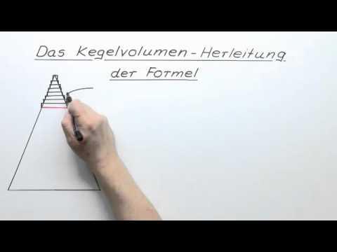 volumen kegel formel