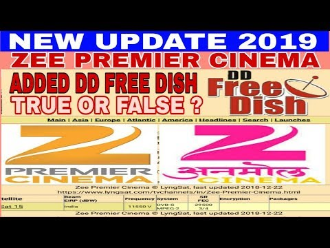 Add new channel zee premier cinema on dd free dish 2019