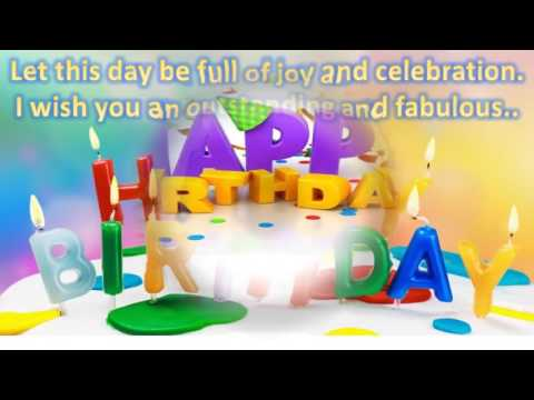 Happy birthday wishes to friend, SMS message, Greetings, Whatsapp Video -1