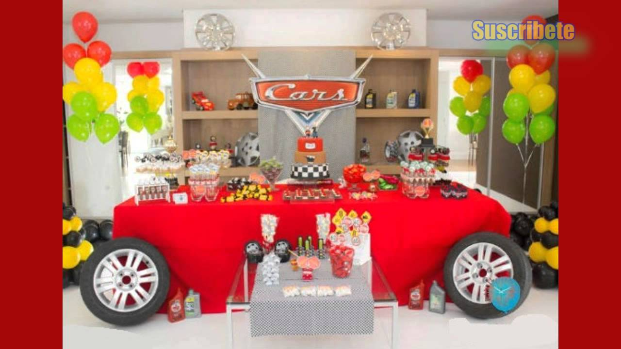 Las mejores decoraciones para tu fiesta de cars youtube for Decoracion para la pared