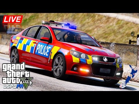 GTA 5 - LSPDFR New Zealand LIVE - Highway Patrol VF Commodore (Play GTA as a cop mod for PC)