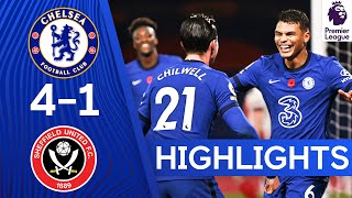 Chelsea 4-1 Sheffield United | Ziyech Stars As Silva Scores 1st Goal! | Premier League Highlights