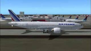 Air France Flight 177 Departs from Atlanta to Paris(FS2004)