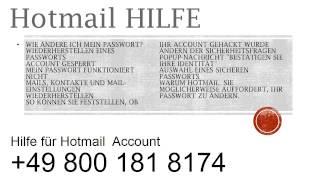 HOTMAIL HILFE +0800-181-8174 | Hilfe für HOTMAIL Account Deutschland