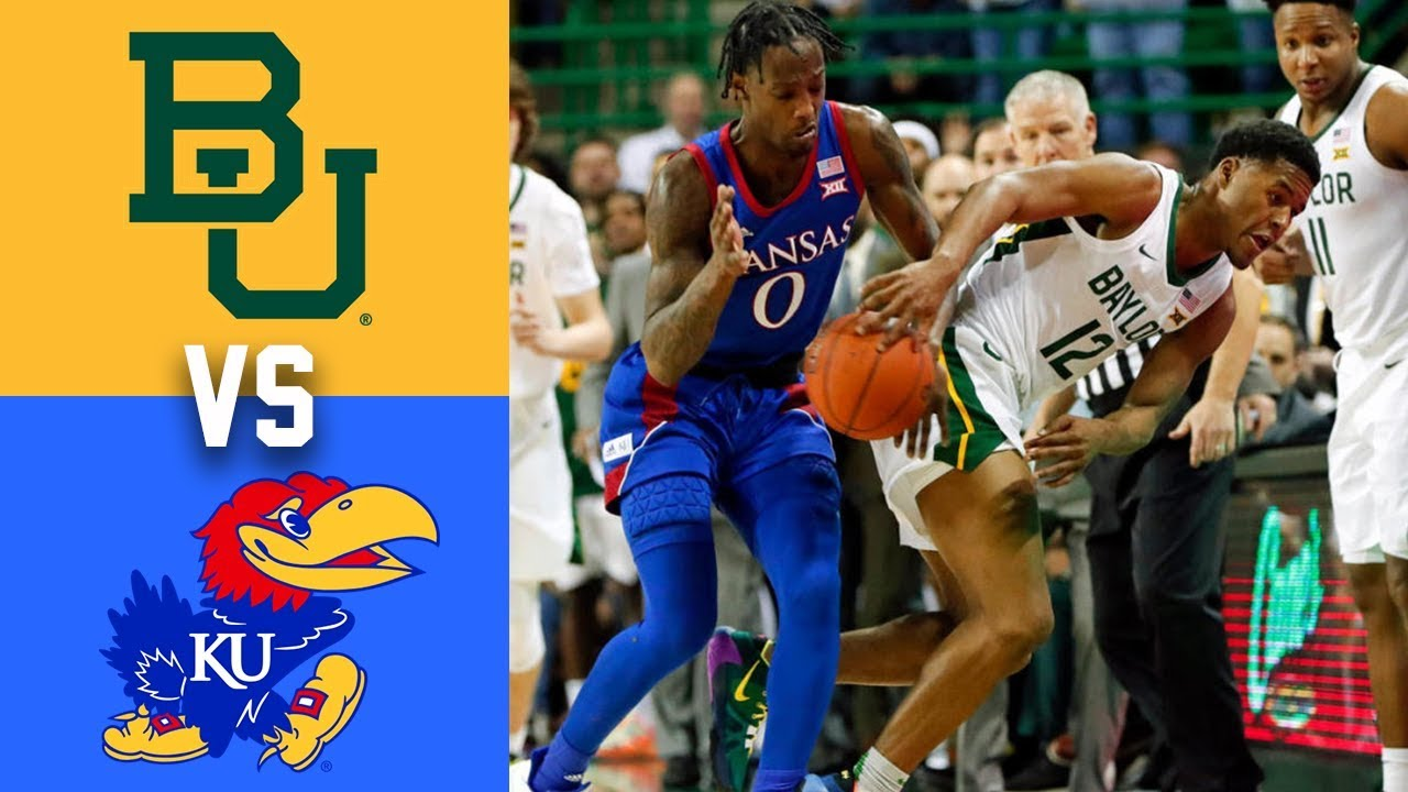 #3 Kansas vs #1 Baylor Highlights 2020 College Basketball