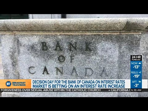 Bank of Canada to make interest rate decision today