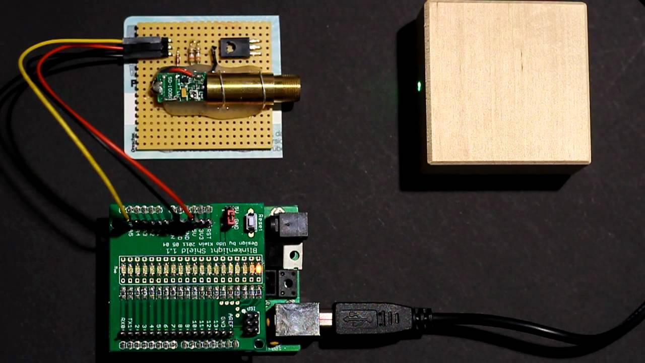 Arduino blinkenlight shield laser module youtube