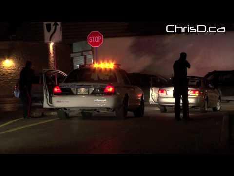 Police Stop Suspect Vehicle - September 5, 2010 - Winnipeg, Manitoba