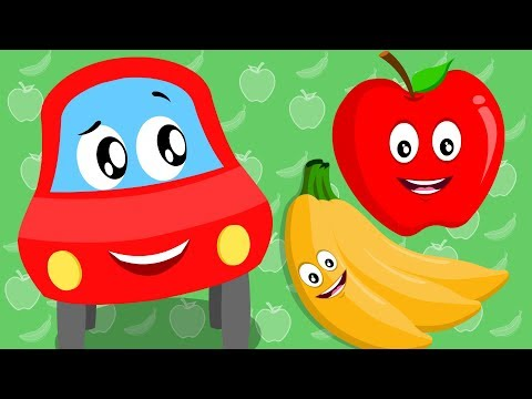 Apple And Banana | Little Red Car | Song For Children by Kids Channel