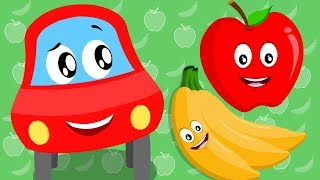 Apple And Banana | Little Red Car | apples and bananas | kids channel