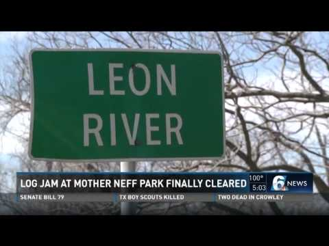 Log jam at Mother Neff Park finally cleared
