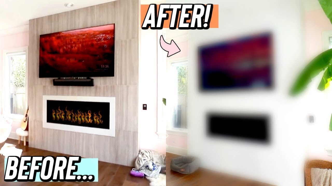 Our New Fireplace It S Finally Done Youtube