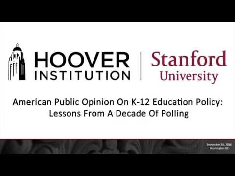 American Public Opinion On K-12 Education Policy: Lessons From A Decade Of Polling