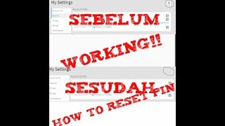 Latest!! HOW TO RESET ROBLOX PINS EASILY 100% WORKING